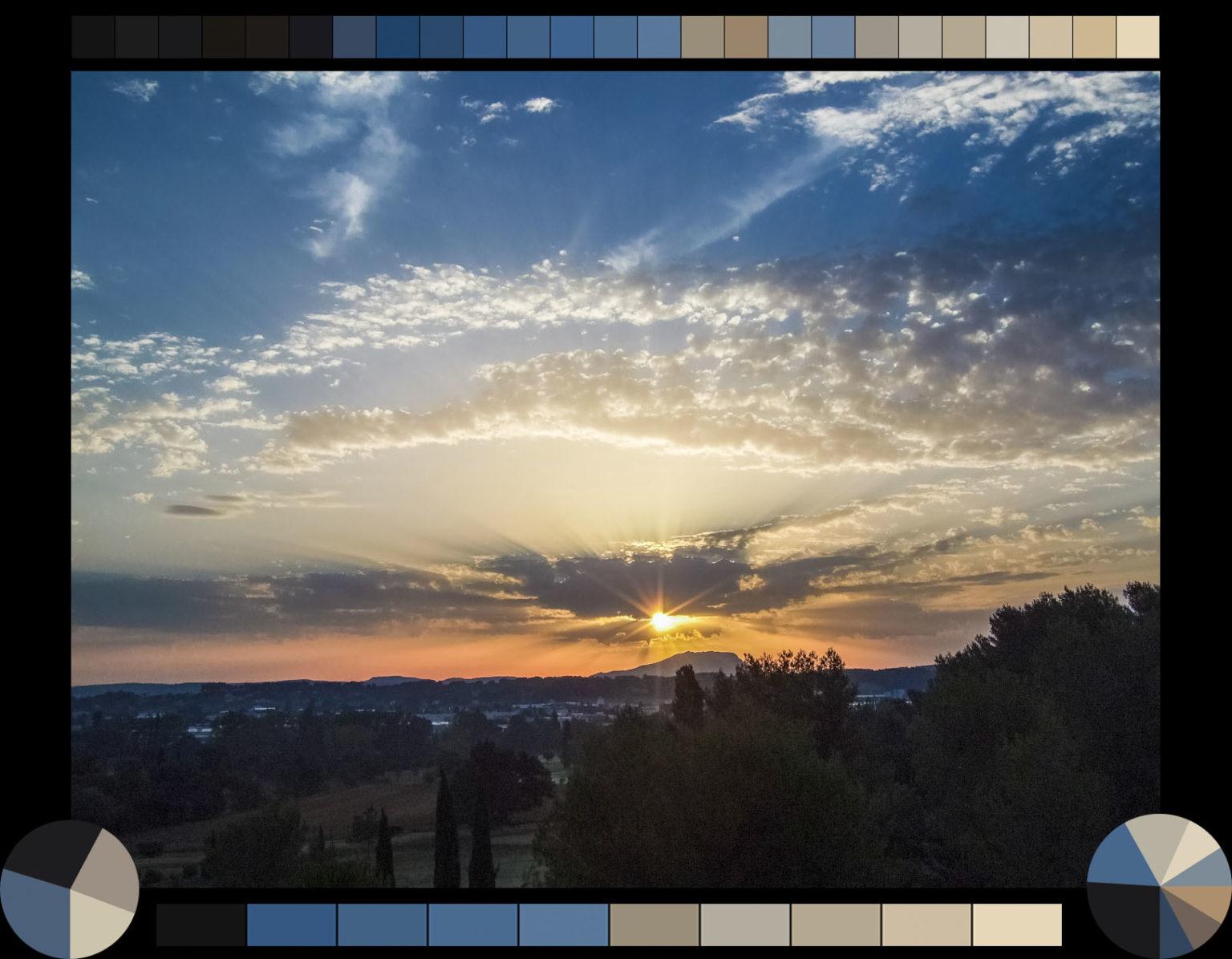 Sonnenaufgang Aix en Provence, Montagne Saint-Victoire