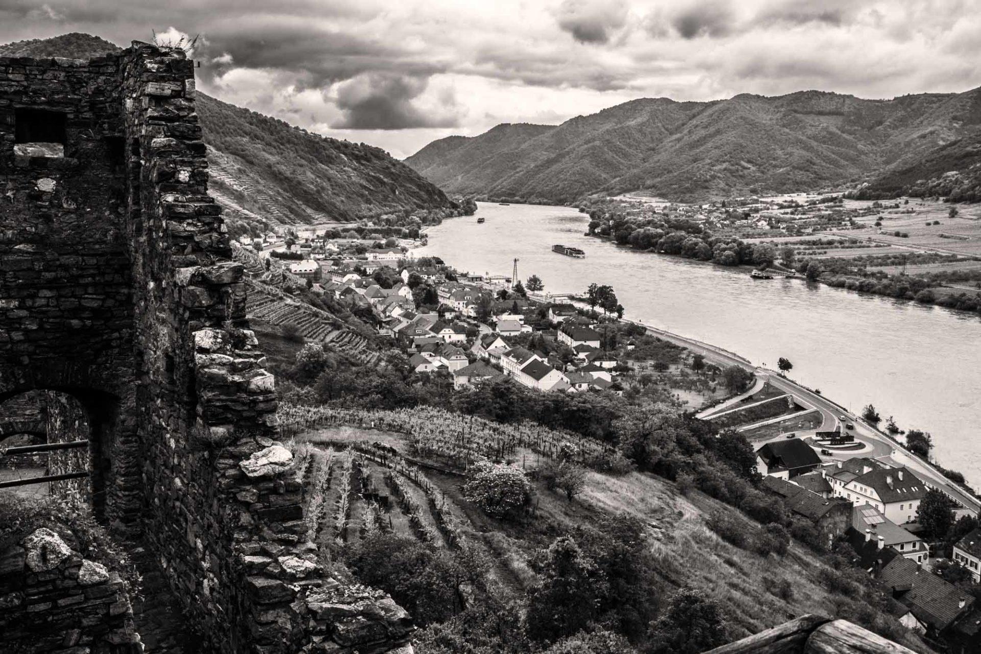 Kalender Landschaften Schwarz-Weiß